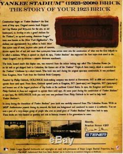 1923 Goldrick Yankee Stadium Brick New York Yankees STEINER SPORTS 144023
