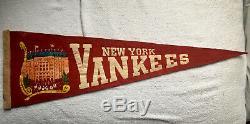 1930's New York Yankees, Yankee Stadium Full Size, 24 Felt Pennant