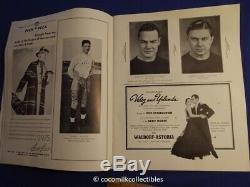 1936 Notre Dame Irish Army Cadets Football Program Yankee Stadium New York Rare
