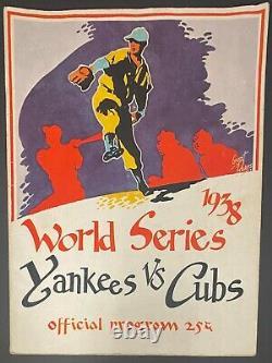 1938 MLB World Series Program New York Yankees Chicago Cubs Yankee Stadium