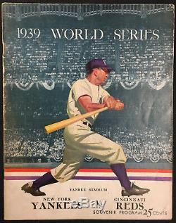 1939 World Series Baseball Program Yankees Stadium New York vs Cincinatti Reds