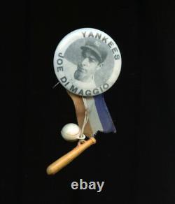 1940s JOE DIMAGGIO NEW YORK YANKEES BASEBALL PLAYER STADIUM PIN