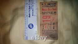 1941 Football Ticket Stub New York Americans at Yankee Stadium