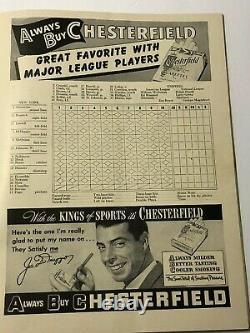 1947 New York YANKEES vs Brooklyn DODGERS WORLD SERIES Program Yankee Stadium