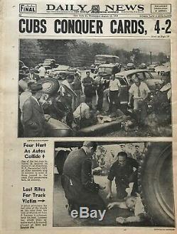 1948 Babe Ruth New York Daily News Babe Goes Home To Yankee Stadium Newspaper