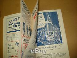 1949 New York Yankees Scorecard Vs Boston Red Sox Oct 1, 1949 Yankee Stadium