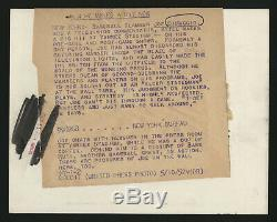 1952 Joe Dimaggio New York Yankee Stadium Press Room Type 1 Photograph 5/10/1952