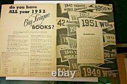 1952 New York Yankees Sketch Book Mlb Baseball Rare Yankees Stadium Bronx Ny