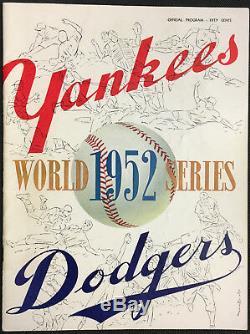 1952 World Series Program Yankee Stadium New York vs Brooklyn Dodgers MLB