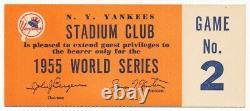 1955 New York Yankees World Series Stadium Club Ticket Game 2