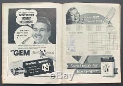 1955 World Series Baseball Program New York Yankee Stadium Version Scored MLB