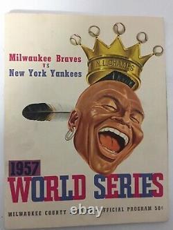 1957 World Series program. New York Yankees vs Milwaukee Braves @ County Stadium