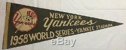 1958 New York Yankees Yankee Stadium Pennant