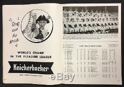 1958 World Series Baseball Program Yankees Stadium New York vs Milwaukee Braves