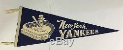 1960 New York Yankees Baseball Felt Pennant Old Stadium Vintage MLB Full Size
