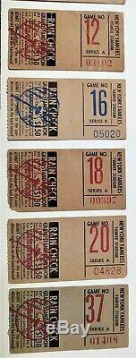 1960s Lot of 14 New York Yankee Stadium Baseball Grandstand Original Tix Stubs