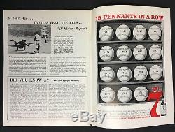 1961 World Series Program Yankee Stadium New York vs Cincinnati Reds MLB