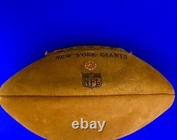 1964 New York Giants Facsimile Team Signed Souvenir Football From Yankee Stadium