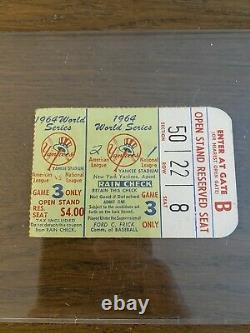 1964 World Series Ticket Game 3 Yankee Stadium New York St. Louis Cardinals MLB