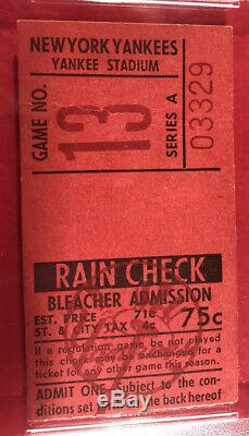 1967 Mickey Mantle 500 HR PSA Ticket At New York Yankees Stadium GD