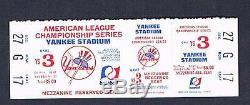 1970's New York Yankees American League Championship ticket Yankee Stadium