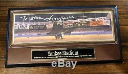 1977 New York Yankee Stadium Scoreboard Signed Reggie Jackson Photo