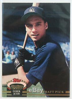 1992 Derek Jeter Draft Pick Stadium Club Rookie New York Yankees Baseball Card