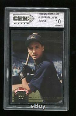 1993 Stadium Club Derek Jeter Gem Elite 10 Pristine Rc New York Yankees