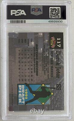 1993 Stadium Club Derek Jeter Murphy #117 PSA 8 NM-MT New York Yankees, (B193)
