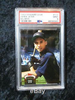 1993 Stadium Club Murphy #117 Derek Jeter New York Yankees PSA 9 MINT NEW LABEL