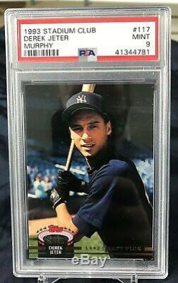 1993 Stadium Club Murphy DEREK JETER #117 New York Yankees RC Rookie PSA 9 MINT