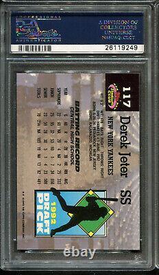 1993 Topps Stadium Club #117 Derek Jeter RC PSA 9 New York Yankees
