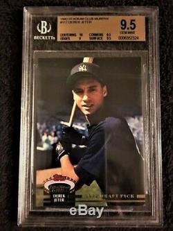 1993 Topps Stadium Club Murphy Derek Jeter New York Yankees #117 Baseball Card