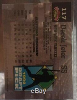 1993 Topps Stadium Club Murphy Derek Jeter New York Yankees #117 Crisp Corners