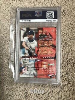 1996 Topps Stadium Club Derek Jeter PSA Gem Mint 10 Rookie Card New York Yankees