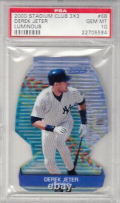 2000 Stadium Club 3x3 Die Cut Derek Jeter Luminous New York Yankees #6B PSA 10