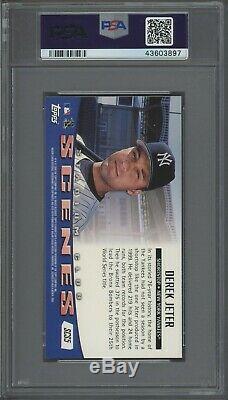 2000 Topps Stadium Club Scenes #SCS5 Derek Jeter New York Yankees PSA 10 POP 1