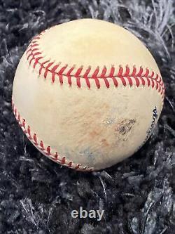 2008 Game Used GU Final Season Yankee Stadium Baseball New York Logo Rawlings