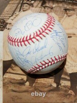 2008 New York Yankees Stadium Team Signed Baseball Derek Jeter + 28 Steiner COA