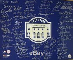2008 New York Yankees signed 16x20 Photo Yankee Stadium Logo 70 sigs BAS LOA