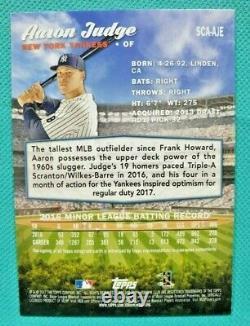 2017 Topps Stadium Club #SCA-AJE Aaron Judge RC Auto New York Yankees
