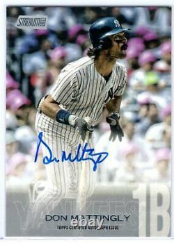2018 Stadium Club Don Mattingly On Card Auto Autographed Card New York Yankees