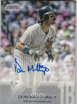 2018 Topps Stadium Club New York Yankees Don Mattingly Auto