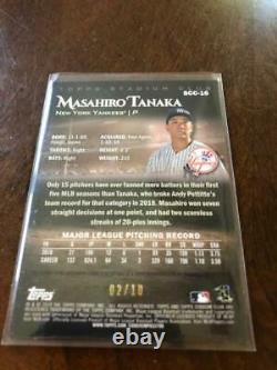2019 Topps Stadium Club Chrome BCA-MT Masahiro Tanaka Auto New York Yankees 2/10