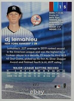 2020 Topps Stadium Club Chrome DJ LEMAHIEU 1/1 SUPERFRACTOR #15 New York Yankees