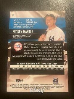 2021 Stadium Club Mickey Mantle 1991 Design Variation SSP #52 New York Yankees
