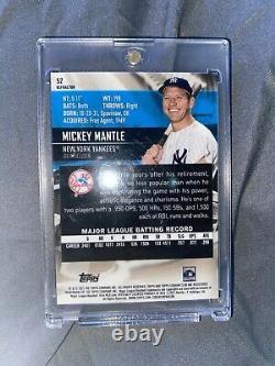 2021 Topps Stadium Club #52 Mickey Mantle Chrome Refractor New York Yankees SP