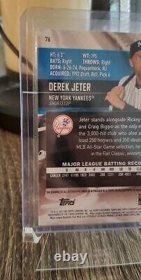 2021 Topps Stadium Club Derek Jeter Auto /25 New York YANKEES #76