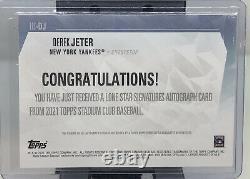 2021 Topps Stadium Club Derek Jeter Auto /5 New York Yankees