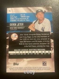 2021 Topps Stadium Club Derek Jeter Photo Variation SP #76 New York Yankees